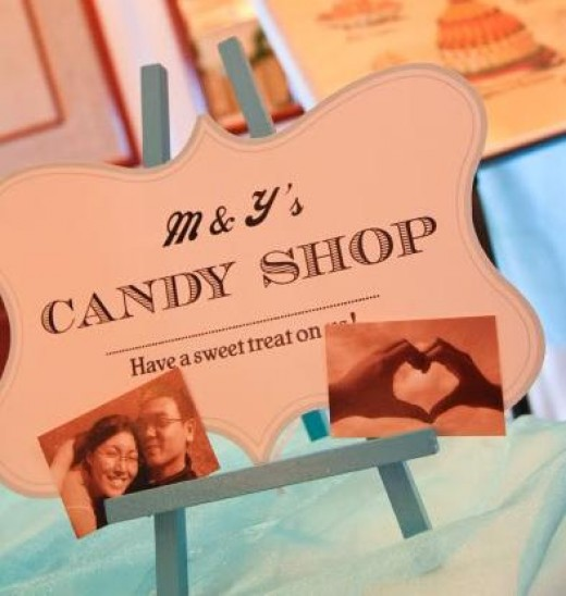 ideas for candy tables at weddings