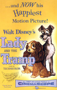The Lady and the Tramp is a great love story between a posh pooch and a run down mongrel!