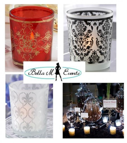 TEALIGHT HOLDERS FOR WEDDING CANDY BUFFET TABLE