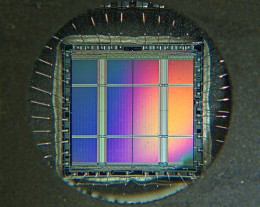 Erasable Programmable Read-Only Memory. Image credit WikiCommons.