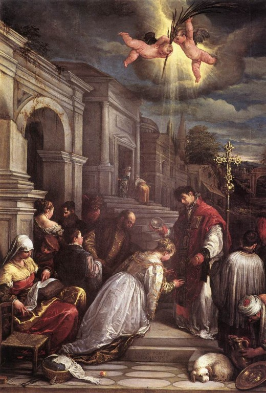 St Valentine officiating a secret wedding http://www.extremecatholic.blogspot.com/