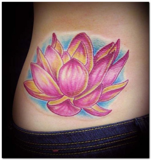 Have ya noticed that all the Lotus Tattoos have been on women,
