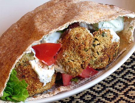Serve with falafel in a pita!