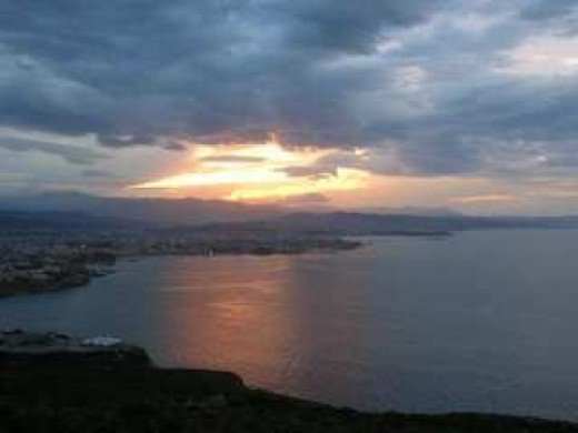 Sunset over Chania, Crete