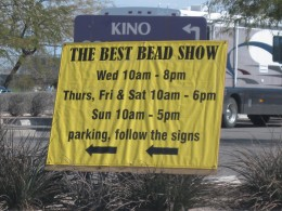 Bead Show Area at 2010 Tucson Gem & Mineral Show