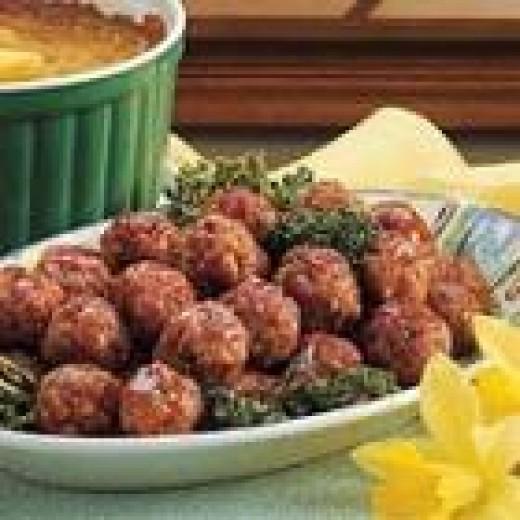 Glazed Ham Balls (from Allrecipes)