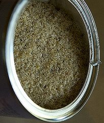 Psyllium  husks in their natural form