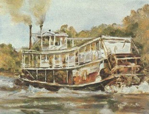 Oklahoma Civil War Naval Battle: Steamboat Similar to the J.R. Williams