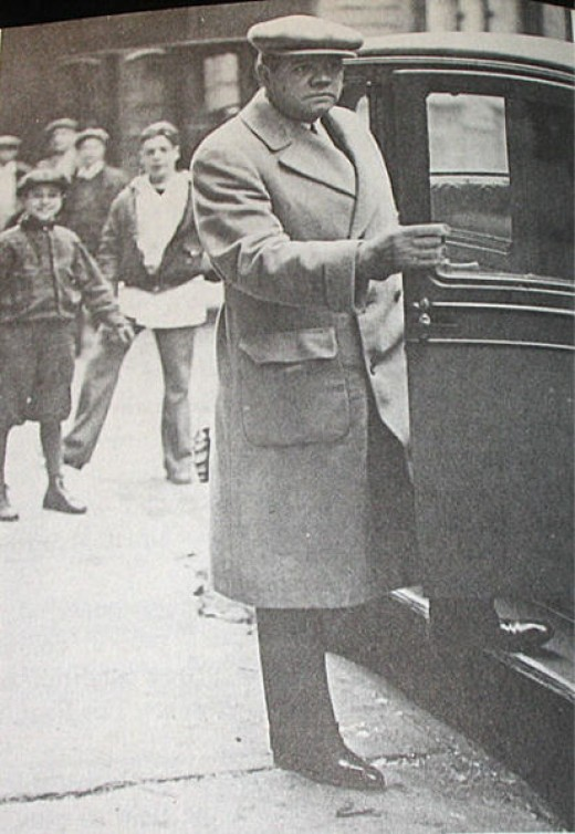 A well-dressed Ruth in 1930.