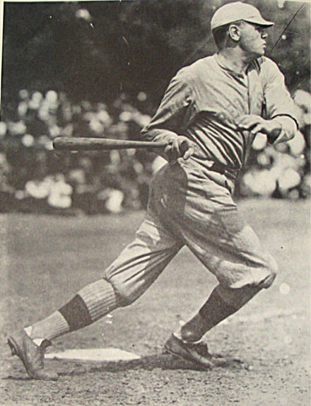 Ruth batting in 1918