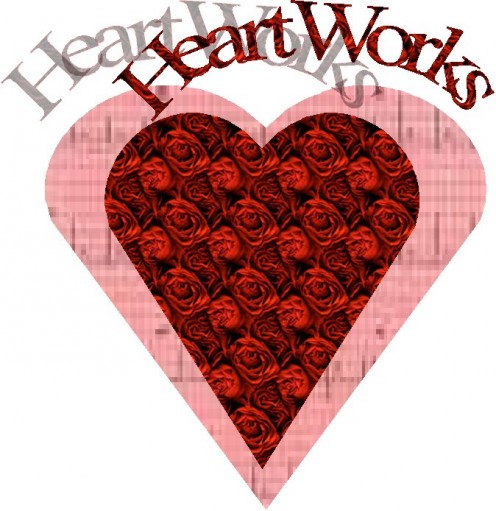 Heart Works Valentine Heart with red roses.
