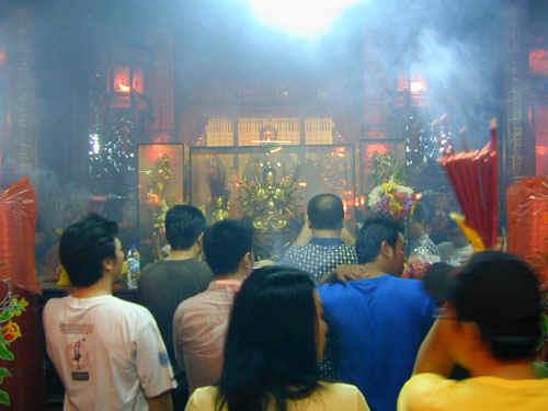 Praying in the Shrine