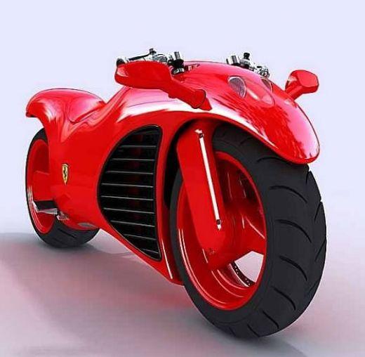 Amazing Ferrari Bike Looks - Concept and Design Photo, Pictures, Stills, Images