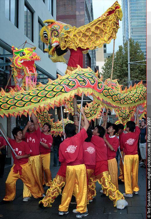 The Dragon Dance during Chinese New year and other festivities