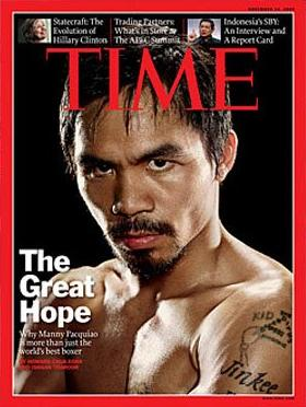 Manny Pacquiao on Time magazine (Asian edition) cover