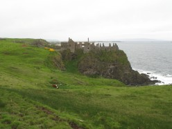 Dunluce Castle Ireland from the Giant's Causeway