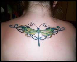 256623 f260 Fly tattoo the mythological role of flies related to its small size, persistence, uncleanness.