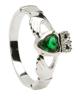 Claddaugh Ring with the May Birthstone Emerald