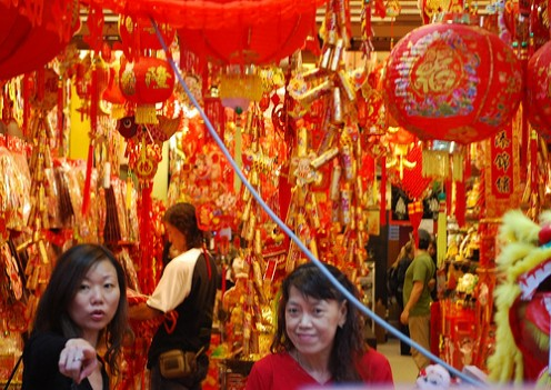 Chinese New Year shopping in Singapore--a rowdy affair that's totally exciting.