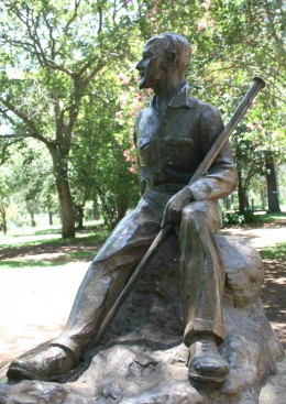 Maquette of the statue of Smuts by Ivan Mitford-Barberton which stands next to the house