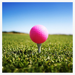 Women Golfers are growing in Number. This is the color of my golf ball! Hot pink.