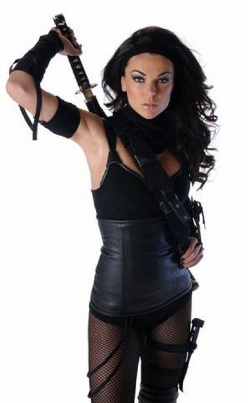 Serinda with a sword