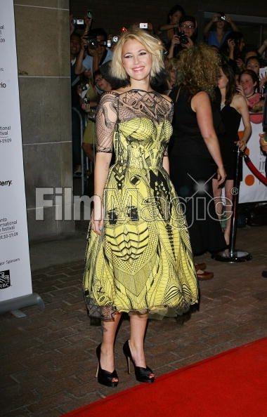 Drew Barrymore in Alexander McQueen.