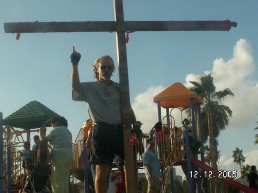 Raising the Cross In Harlingen,TX. at Praise in the Park 2008