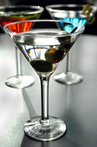 plastic martini glasses
