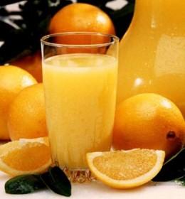 Orange juice contains vitamin C.