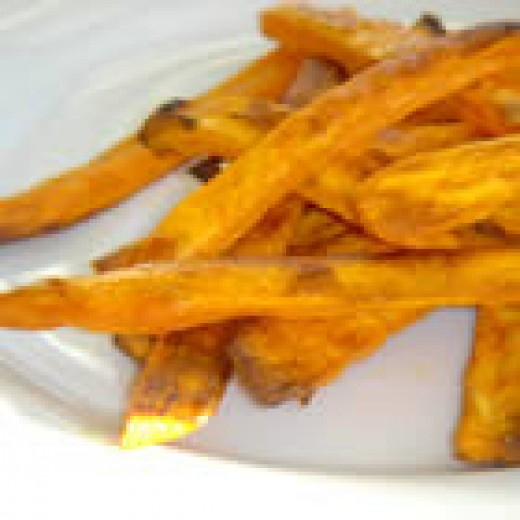 Spicy Baked Sweet Potato Fries (from Allrecipes)