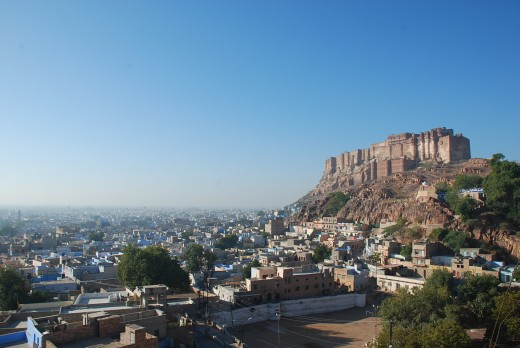Iconic Mehrangarh Fort & the blue city