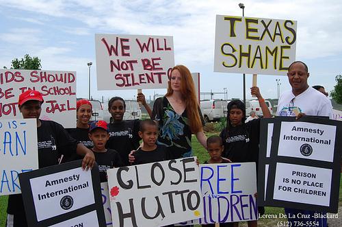 Elizabeth Kucinich at Hutto Protest