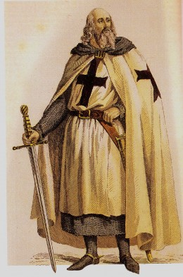 JACQUE DE MOLAY WAS THE LAST LEADER OF KNIGHTS TEMPLAR (BURNED AT THE STAKE)