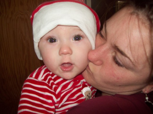 The second-littlest grandchild.