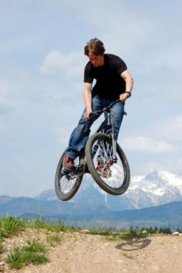 There are number of games played based on bicycles. They are different from professional races and are played in most creative ways just for of fun.