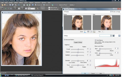 Using the Smart Photo Fix Option in Corel's Paint Shop Pro Ultimate X2