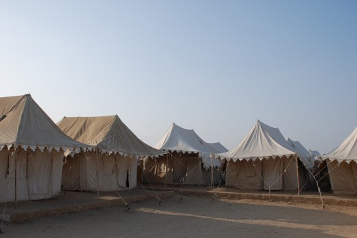 Khuri tents for overnight stay