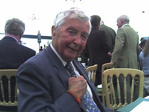 Dick Francis, himself in later years