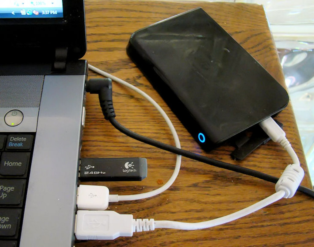 how to download a files to an external hard drive