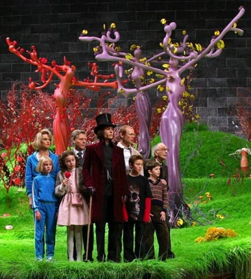 Charlie and Chocolate Factory, based on a book by Roald Dahl is one of Tim Burton's greatest film creations.