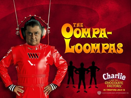 The whole Oompa Loompa tribe are played by Deep Roy, who through the use of camera tricks is one man doing multiple roles.
