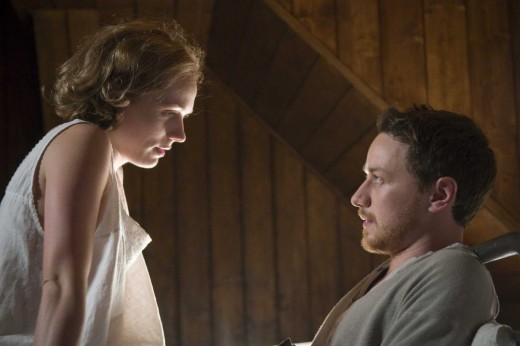 Kerry Condon as Masha seducing the innocent young Valentin played by James McAvoy