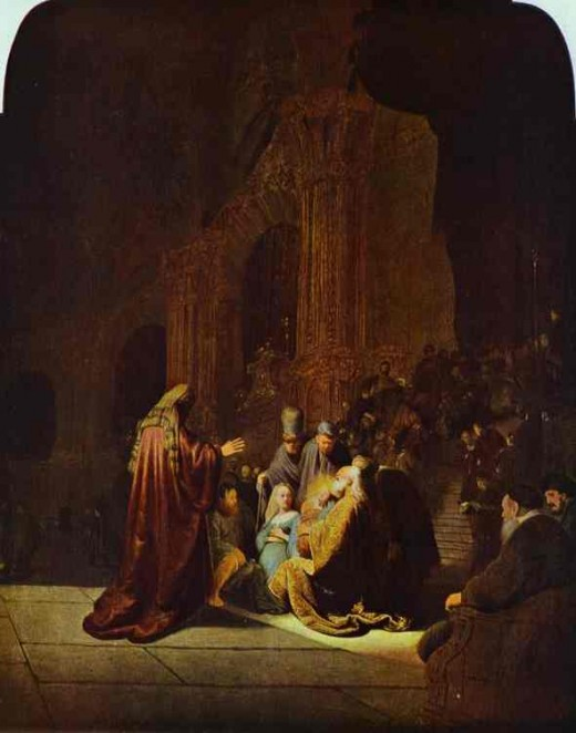 The Presentation of Jesus in the Temple. 1631 - photo courtesy of abcgallery.com