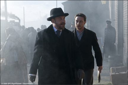Giamatti and McAvoy in The Last Station