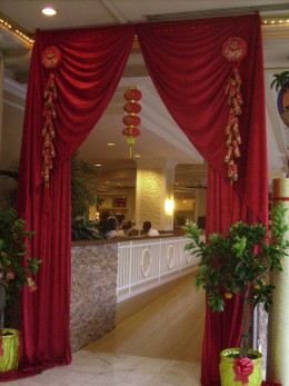 Restaurant in Las Vegas decorated for Chinese New Year