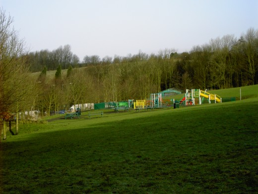 The recently constructed play area is well utilised in the summer months