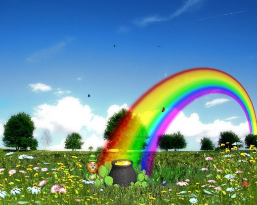 wallpapers nature spring. Rainbow Spring Wallpaper