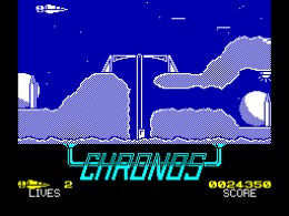 Chronos - It's a bit like Scramble only not quite as good. ZX Spectrum.
