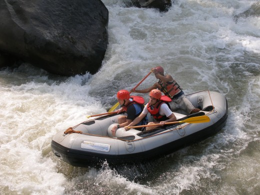 Water rafting in Chiang Mai Thailand